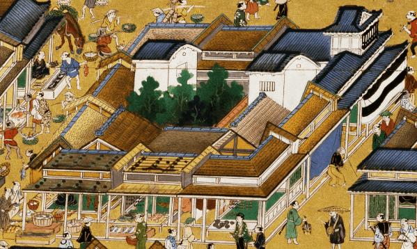Machiya in Nihonbashi in Edo period