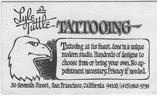 Lyle Tuttle business card