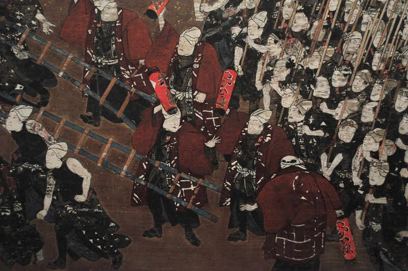 07-Edo-Tokyo_Museum_-_votive_picture_depicting_the_firemen_of_the_sen_group