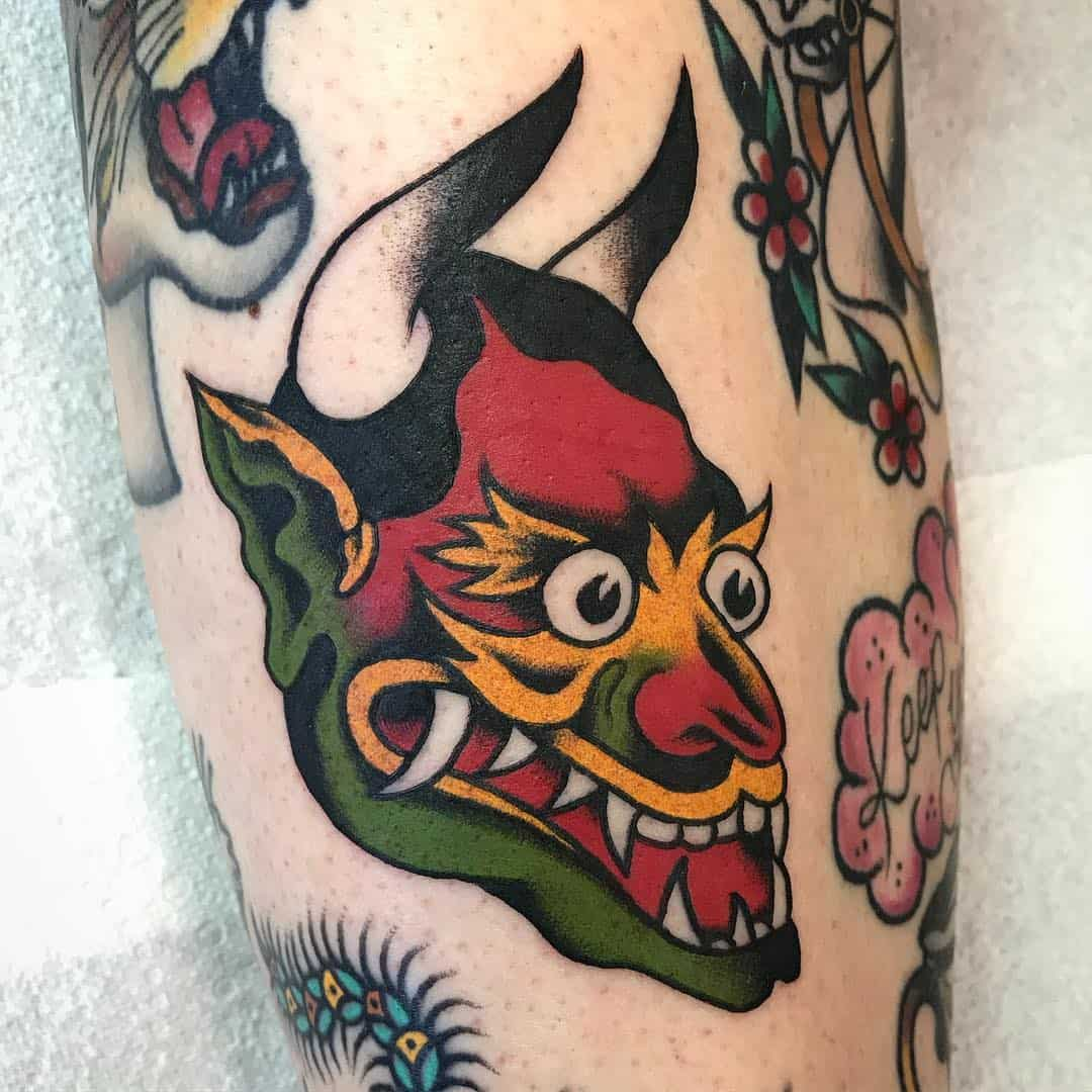 Devils head tattoo