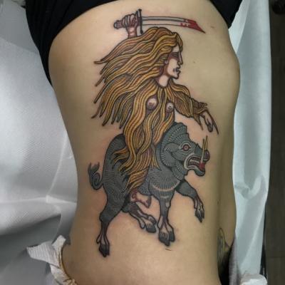 Boar Hunt Tattoo