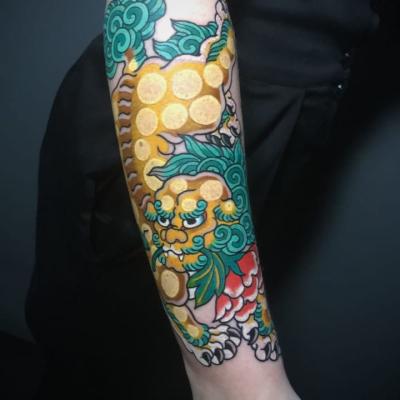 Japanese Fodog Tattoo