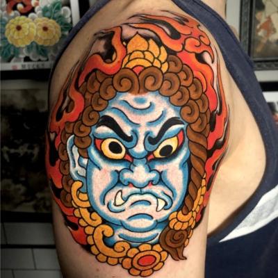 Japanese Fudo Tattoo straight on