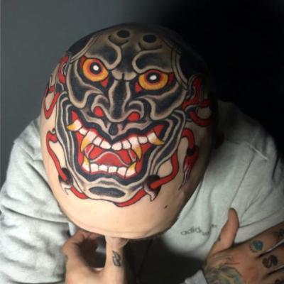 Japanese Head Tattoo