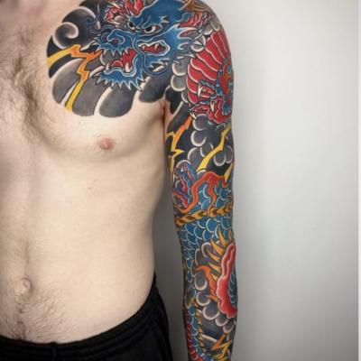 Japanese Sleeve Tattoo Dragon 1