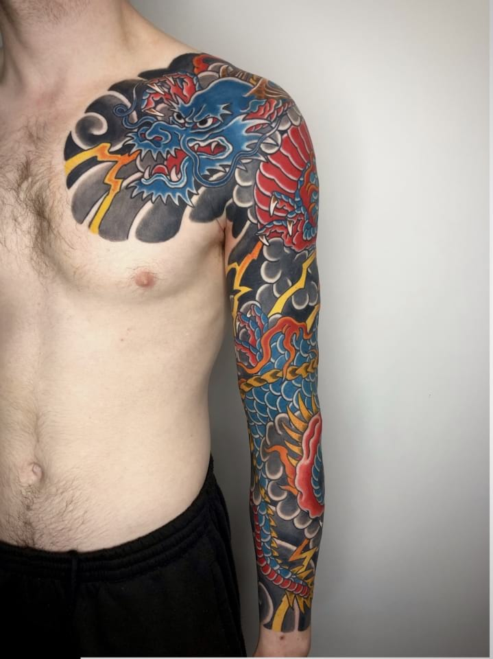 Japanese Sleeve Tattoo Dragon 1