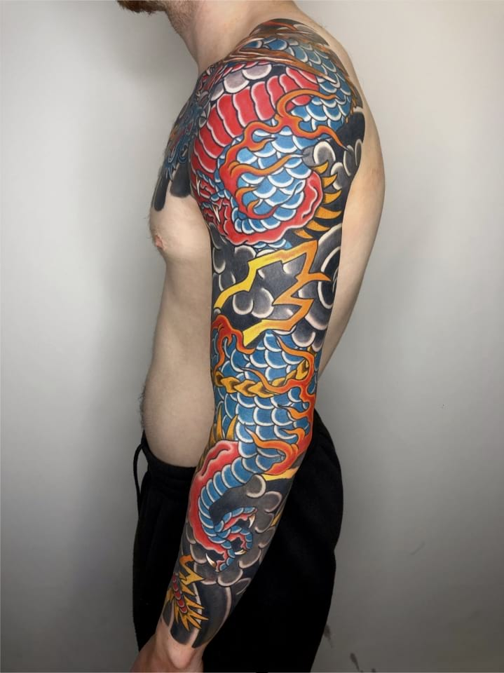 Japanese Sleeve Tattoo Dragon 2