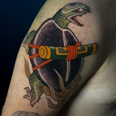 Japanese Snapping Turtle Tattoo