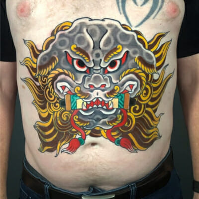 Japanese Stomach Tattoo