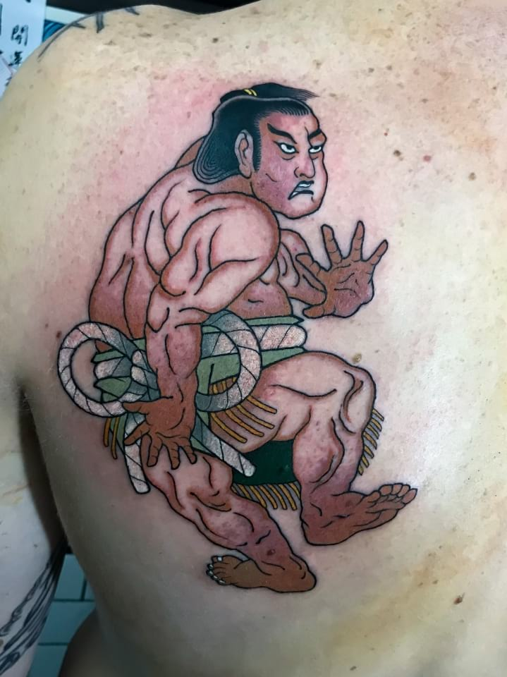 Japanese Sumo Tattoo