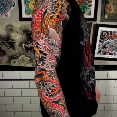 Japanese Tattoo Dragon Sleeve