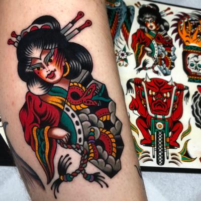 Japanese Tattoo Geisha Flash