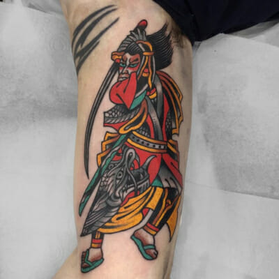 Japanese Tattoo Samuari Sword