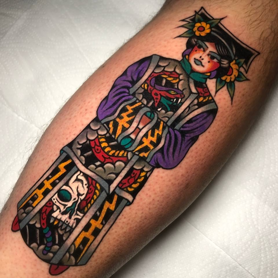 Japanese Tattoo Skull Geisha