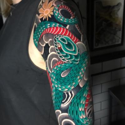 Japanese Tattoo Snake