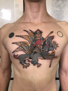 Mythical Chestpiece Tattoo