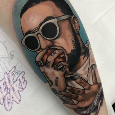 Neo Traditional Macmiller Portrait Tattoo