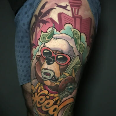 Neo Traditional Bling Tattoo