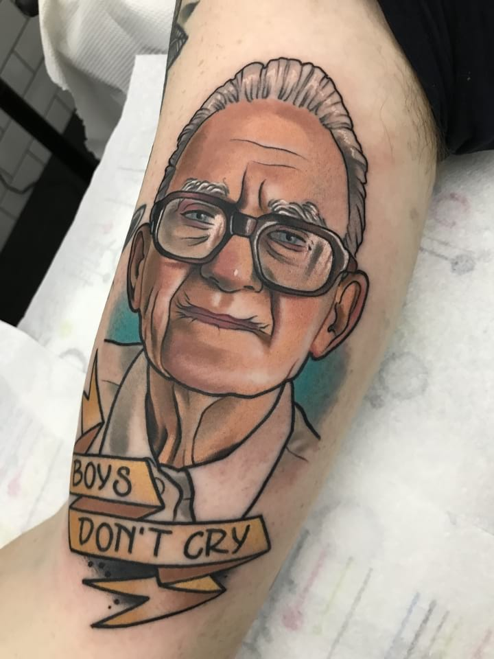 Neo Traditional Boys Dont Cry Tattoo