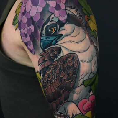 Neo Traditional Eagle Tattoo