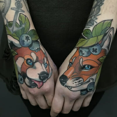 Neo Traditional Hand Tattoos