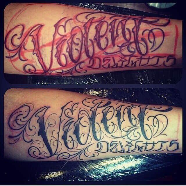 Script Tattoos Cloak Dagger London