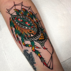 Traditional Spider Tattoo