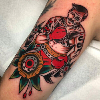 Traditional Boxer Tattoo