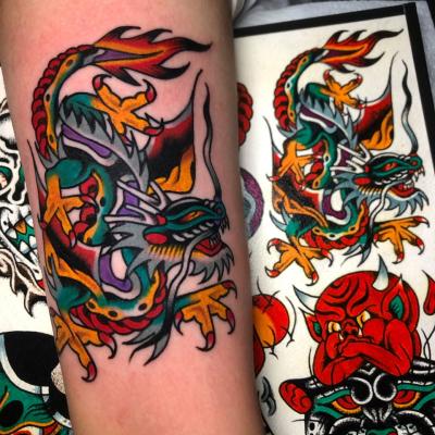 Traditional Dragon Tattoo