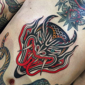 Traditional Laughing Devil Tattoo