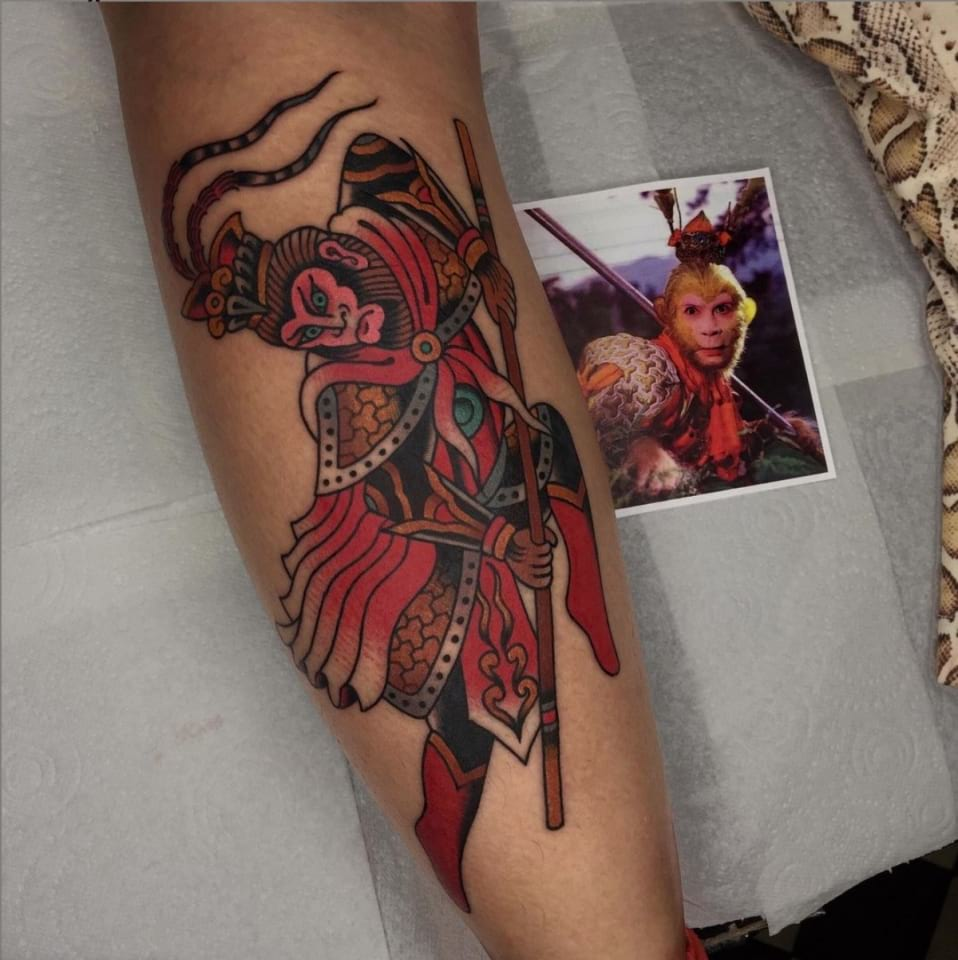 Traditional Sun Wu Kong Tattoo