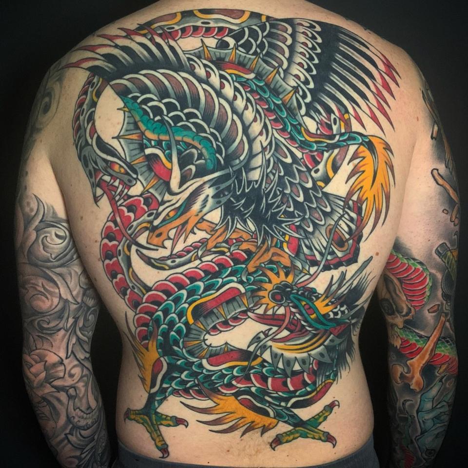 Traditional Tattoo Battle Royal Backpiece