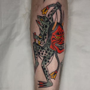 Traditional Tattoo Frog