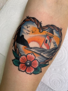 Traditional Tattoo Lighthouse