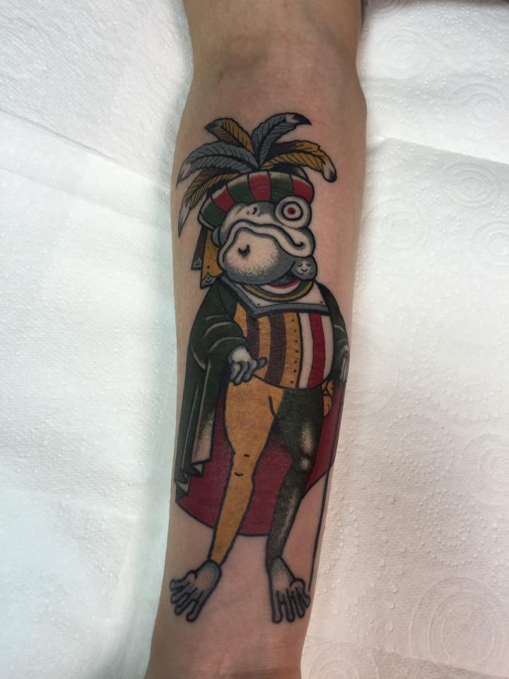 Traditional Tattoo Royal Frog