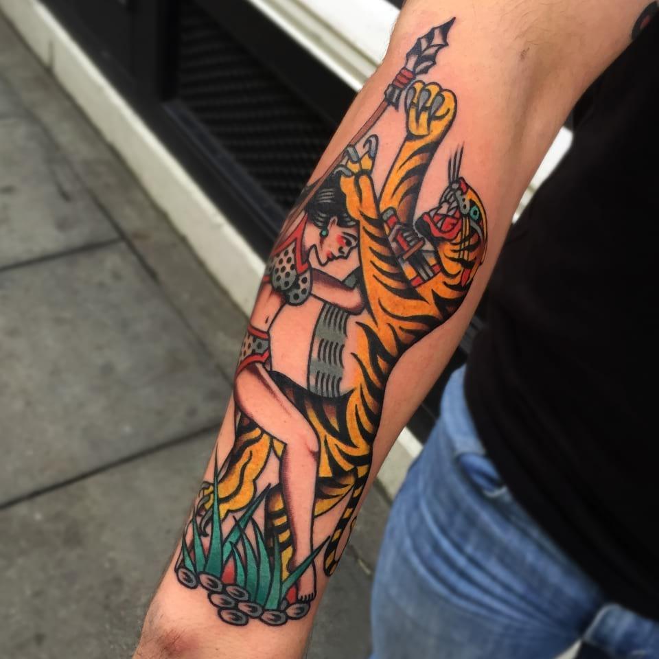 Traditional Tattoo Tiger
