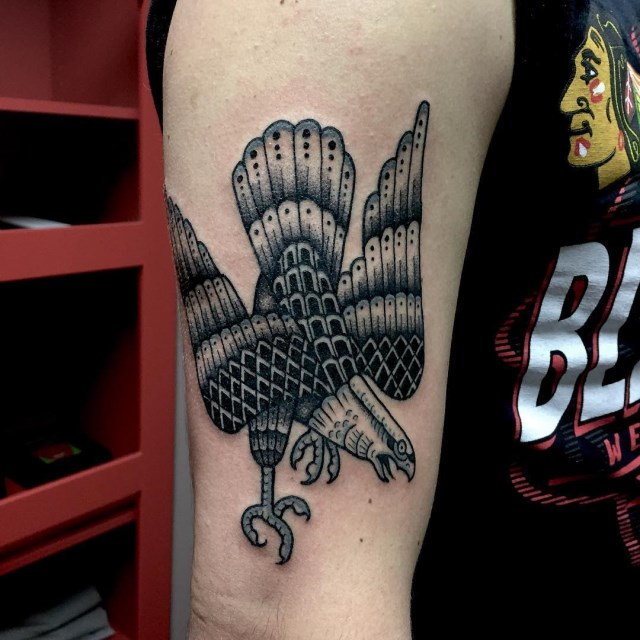 black and grey eagle tattoo 01