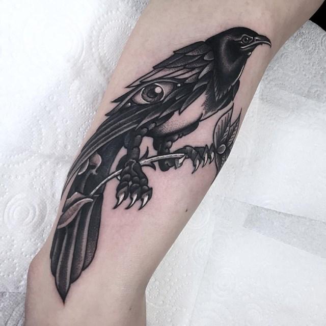 black and grey eye tattoo 1
