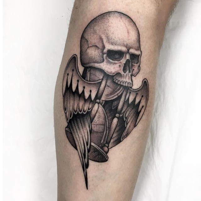 black and grey skull tattoo 06