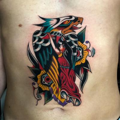 Eagle And Girl Tattoo