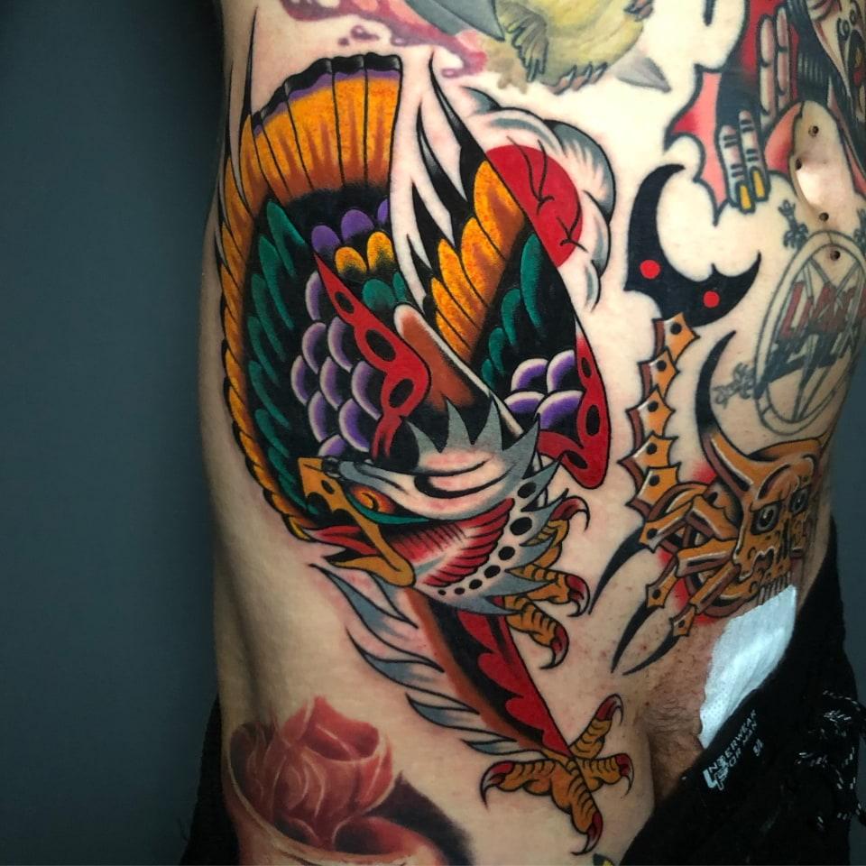 Eagle Side Tattoo