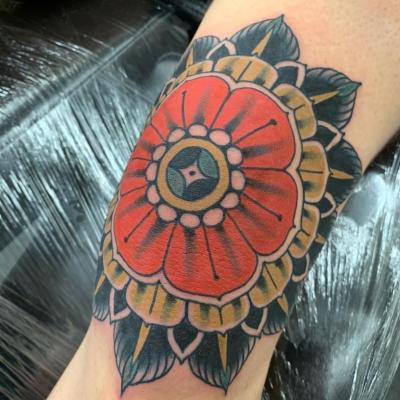 Geometric Tattoo Colour Mandala