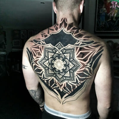 Geometric Tattoo Dotwork Backpiece