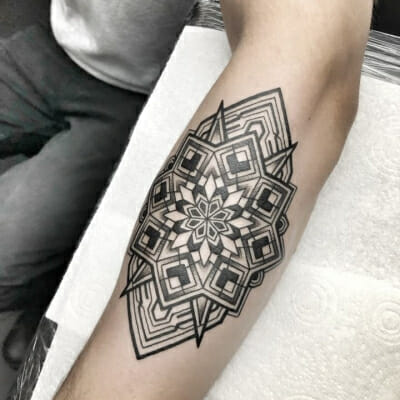 Geometric Tattoo Forearm