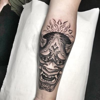 Geometric Tattoo Hannya