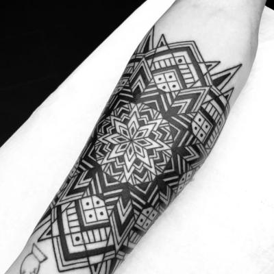 Geometric TattooGeometric Tattoo Pattern Parrot