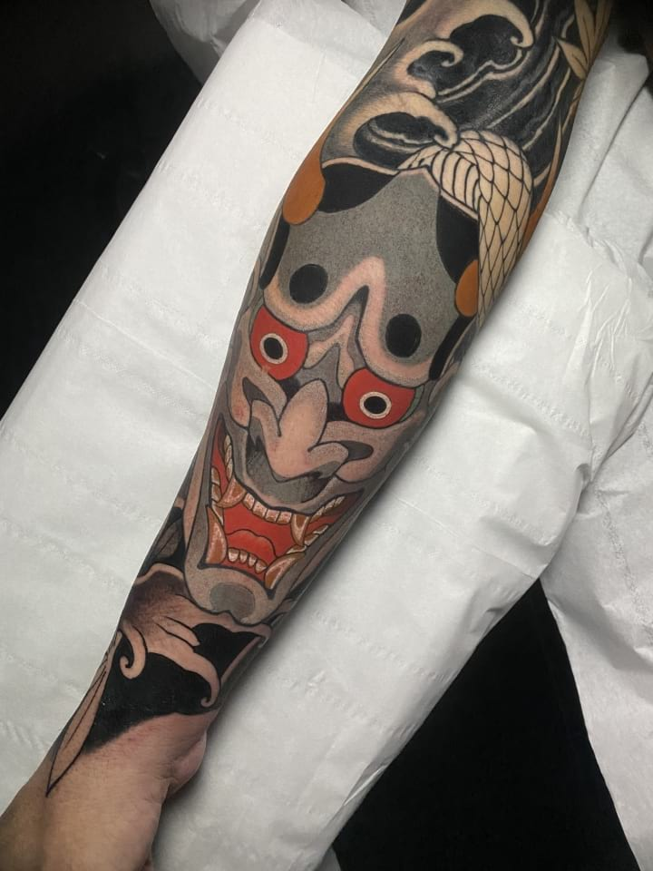 Hannya Forearm Tattoo