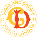 Cloak and Dagger Tattoo London logo