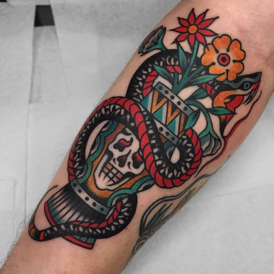 luke jinks traditional tattoo artist london 6