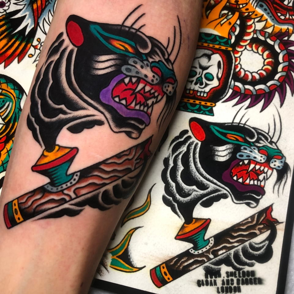 Panther Pipe Tattoo